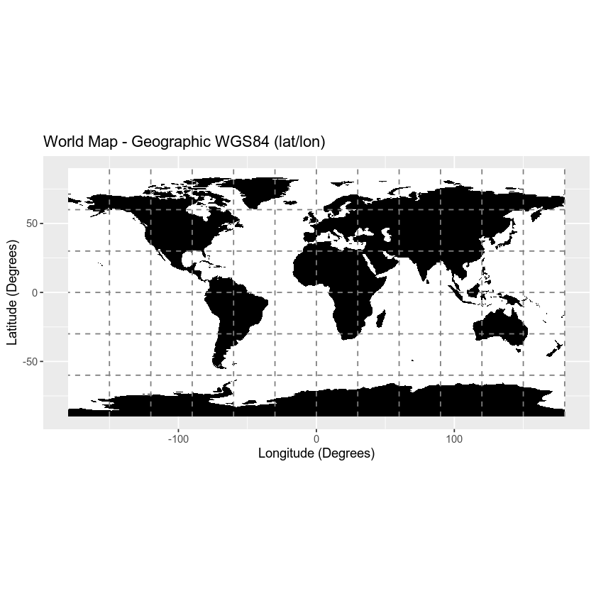GIS With R: Projected vs Geographic Coordinate Reference ...