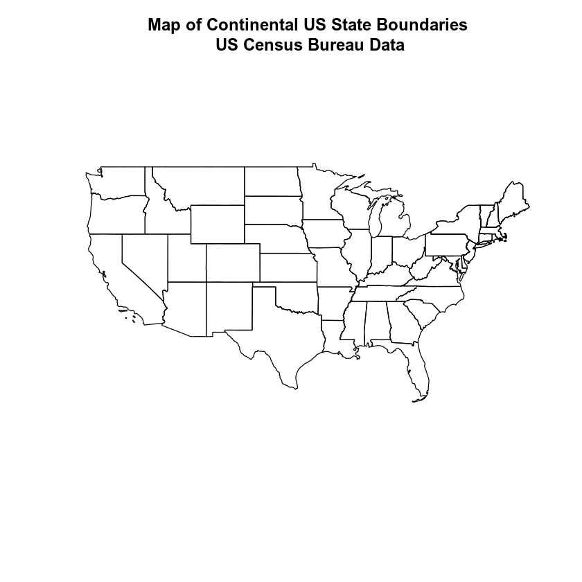 Plot of the continental united states.