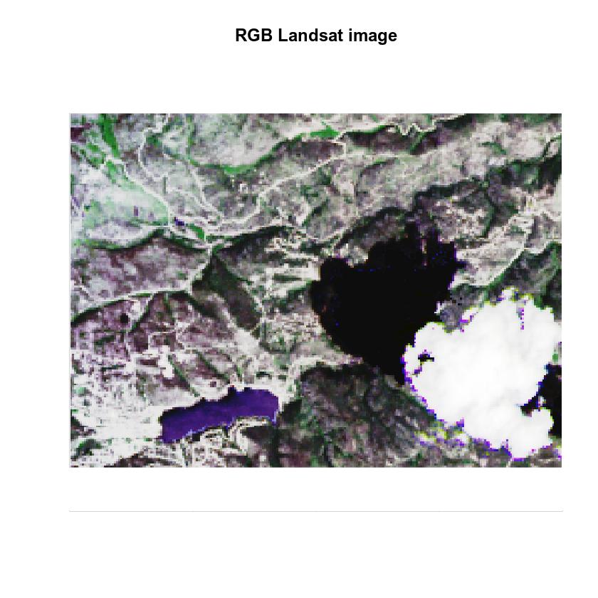 Landsat Pre Fire RGB Image.