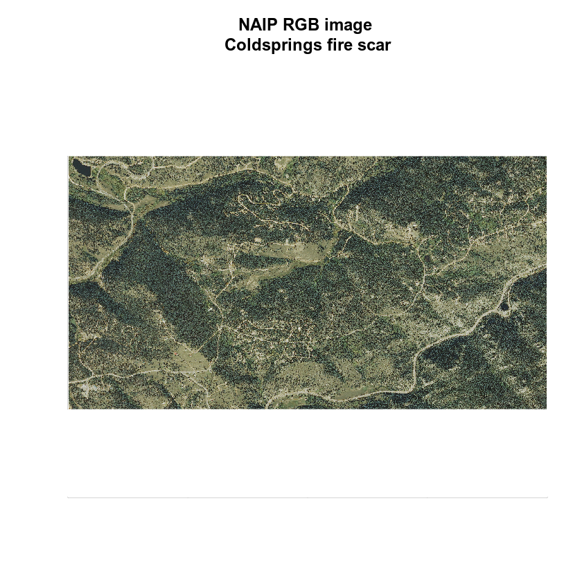 RGB image of NAIP imagery with title.