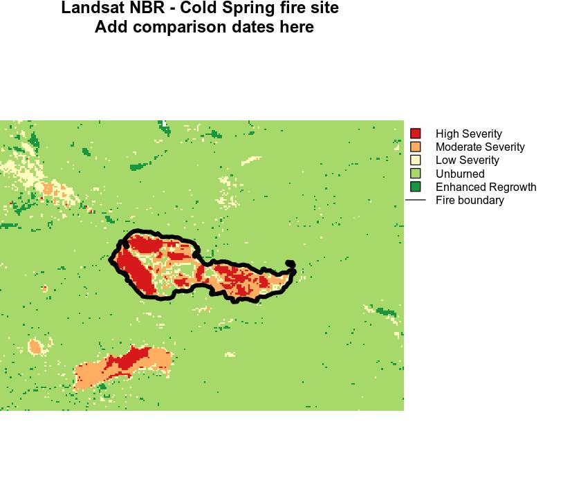 Landsat derived dNBR for Cold Springs Fire Nederland, CO