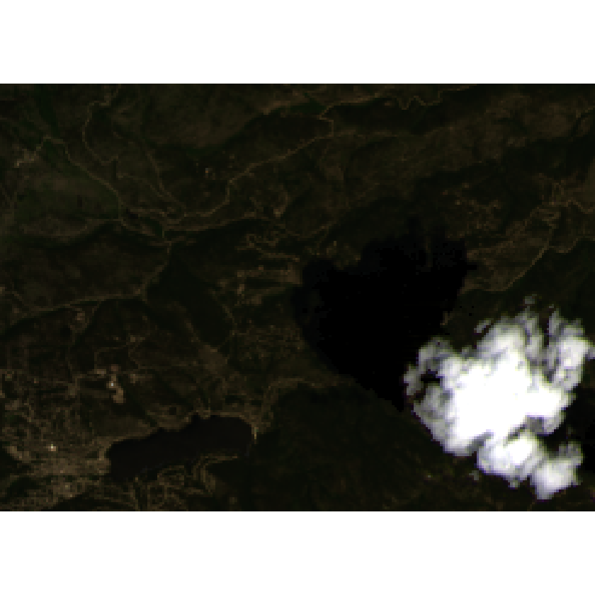 Pre-fire imagery with clouds