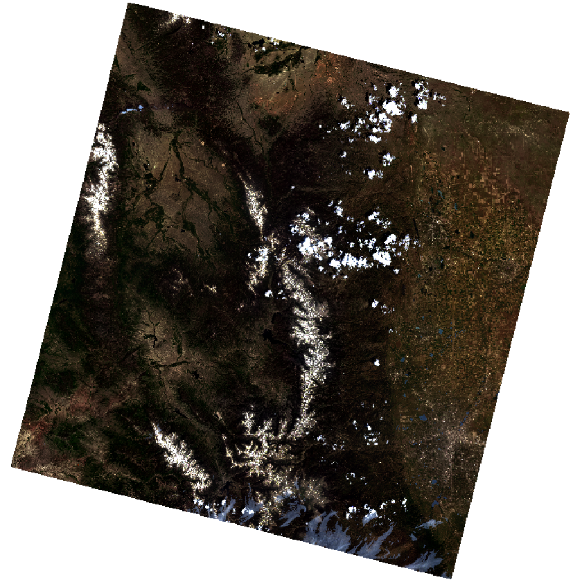 Pre-fire imagery with fewer clouds