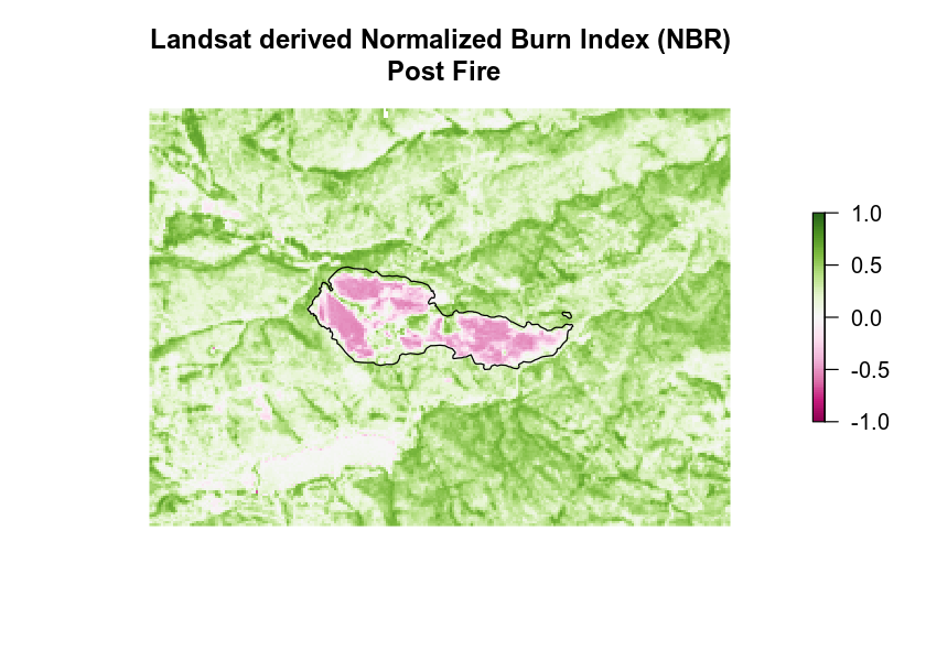 landsat derived NBR post fire