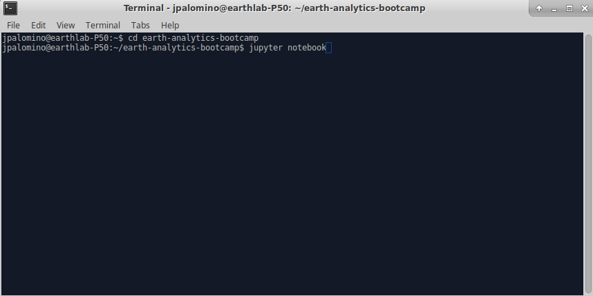 You can use Shell (Terminal) to open Jupyter Notebook with the command, Jupyter Notebook.