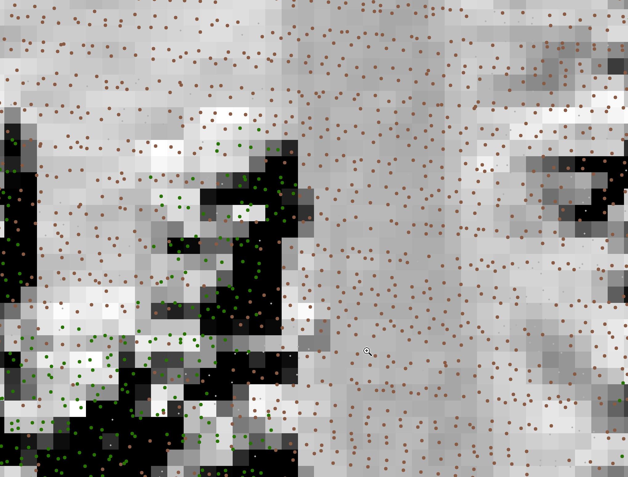 lidar data on top of a raster.