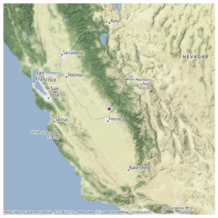 Map of the SJER study site location in Southern California.