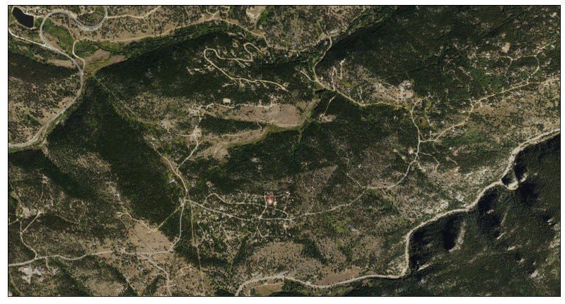 Map of the NAIP RGB imagery of the Cold Springs fire area without the fire overlayed.