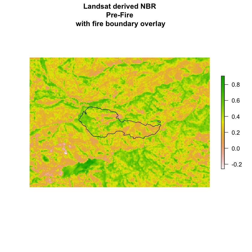 Image of the NBR of the Cold Springs fire site prior to the wildfire.