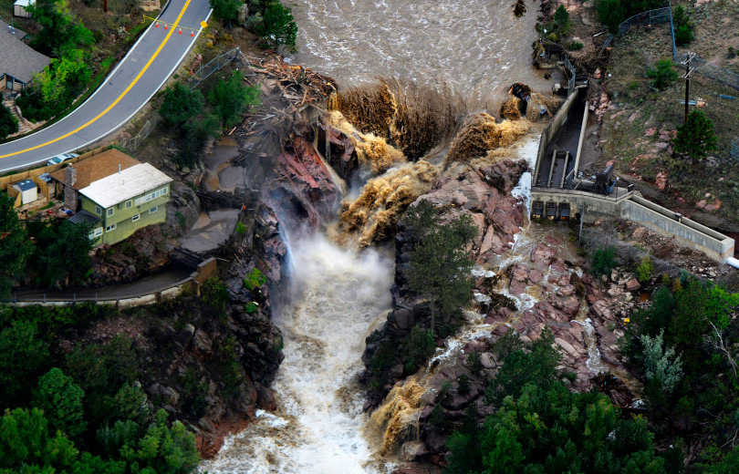 Big Thompson River during the Colorado floods