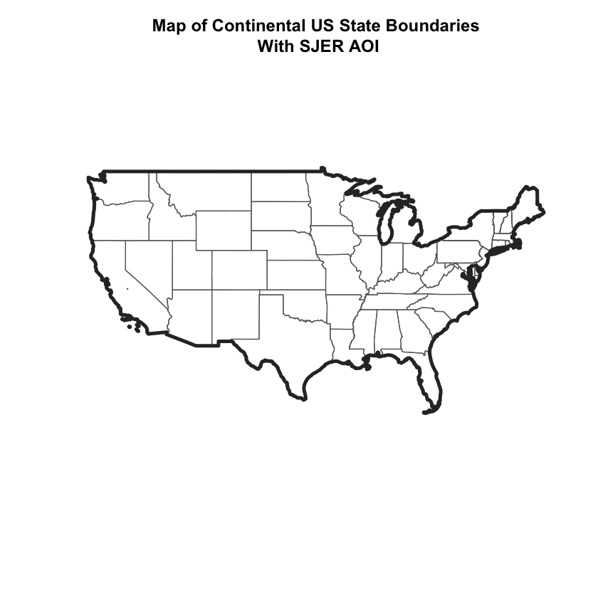 US Map with SJER AOI Location
