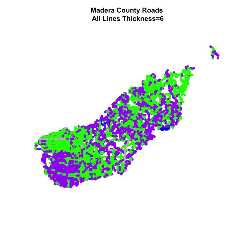 map of madera roads
