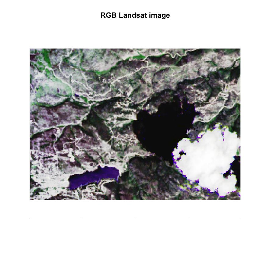 Landsat Pre Fire RGB Image