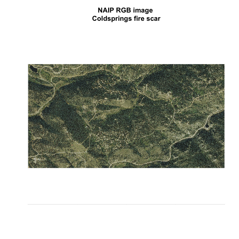 RGB image of NAIP imagery.