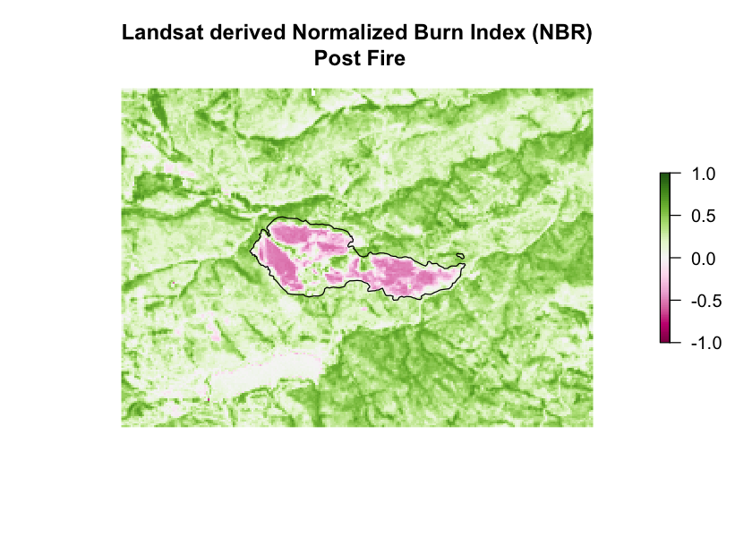 landsat derived NBR post fire